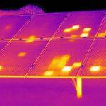 Controllo pannello fotovoltaico con termocamera IR